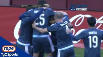 Los goles del triunfo de la Selección Argentina frente a El Salvador