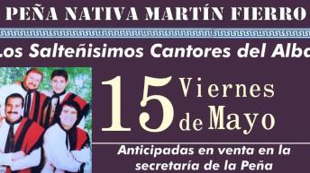 Este viernes, Los Salteñisimos Cantores del Alba traen su canto a la Peña