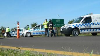 Gran despliegue de controles de la Caminera en accesos a la provincia