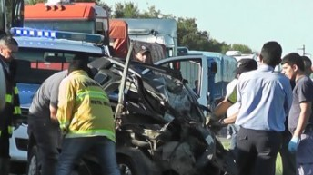 Tres personas murieron en un choque frontal cerca de La Leonesa