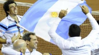 Sin top ten entre sus filas, Argentina pasó a semis de la Davis