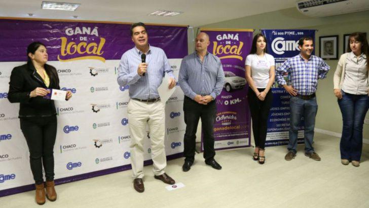 Capitanich y directivos de Cámara de Comercio entregaron premios del programa Ganá de Local