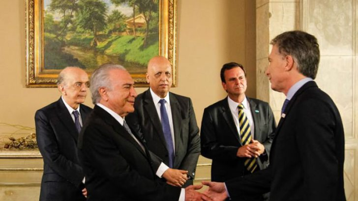 Dios los cría: Macri recibe al presidente de Brasil