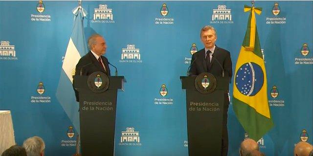 """Macri, Temer y una """"identidad de posiciones"""""""