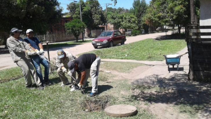 Sameep continúa con el mantenimiento de las redes cloacales