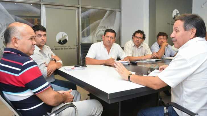 Sameep y el intendente de San Martín programan obras para mejorar el servicio de cloacas