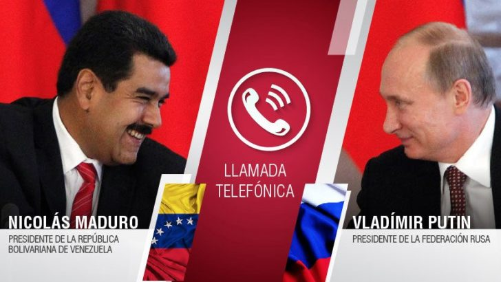 "Venezuela: Putin expresó a Maduro su ""admiración"" por gobernar ""con coraje"""