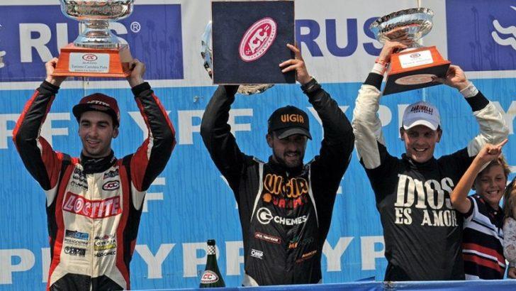 Carinelli logró su primer podio en el TC Pista