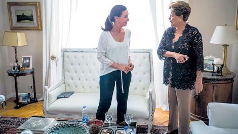 A horas del pedido de Bonadio, Cristina recibió la visita de Dilma en señal de apoyo