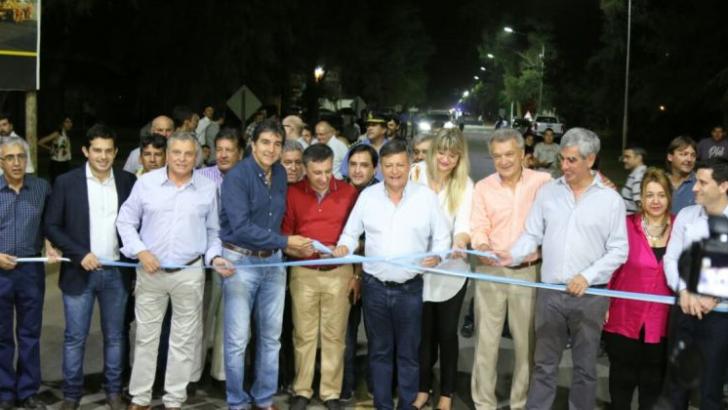 Peppo inauguró la refacción de la calle 51 de acceso a Sáenz Peña