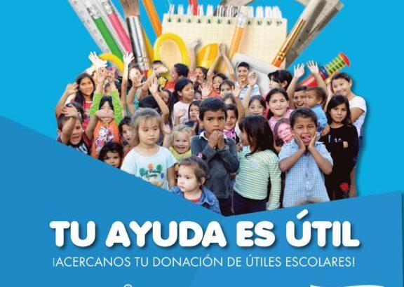 Barrios de Pie impulsa colecta nacional de útiles escolares