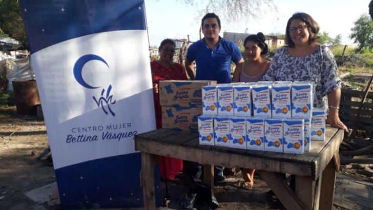 Donaron leche al merendero del asentamiento Bettina Vásquez