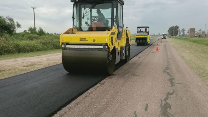 Vialidad Provincial finaliza los trabajos de bacheo y repavimentación en la ruta 4