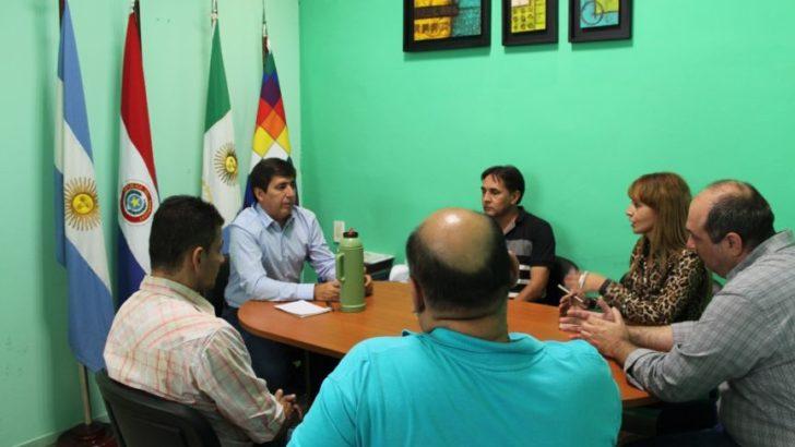 Gustavo Martínez atendió reclamo de referentes del gremio de trabajadores de la Caja Municipal