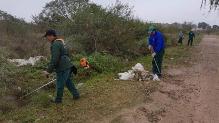 Concejo: el Equipo Hábitat concretó un operativo de limpieza en el barrio Parque Norte