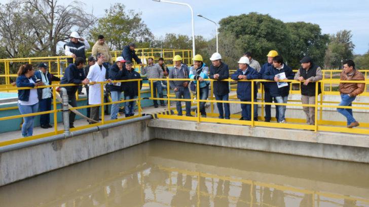 Personal de Sameep recorrió la planta potabilizadora de Roca