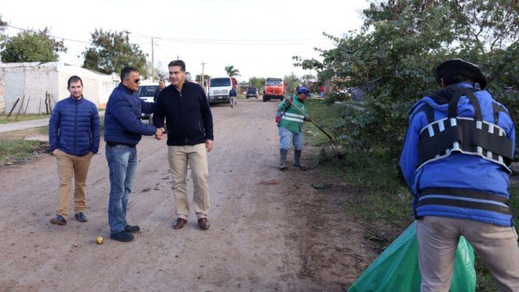 Supervisaron los operativos de limpieza y mejoramiento urbano en Villa Don Andrés