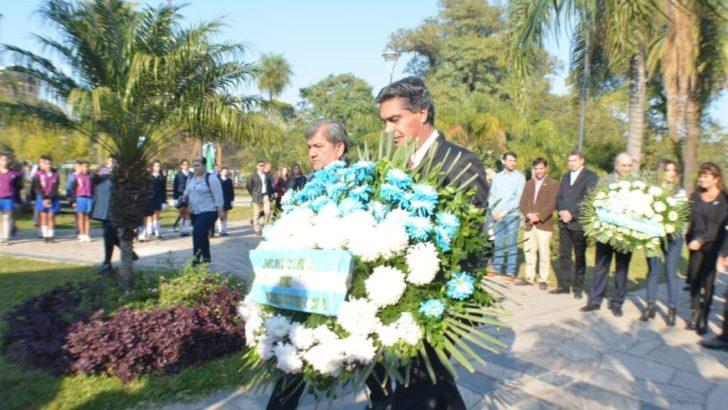 Capitanich encabezó el acto por el 168º aniversario de la muerte de José de San Martín