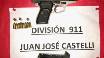 Castelli: motociclistas armados terminaron aprehendidos