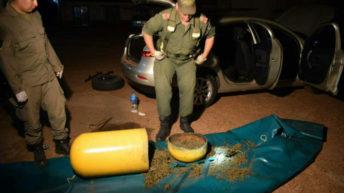 Corrientes: detienen a una pareja con 29 kilos de marihuana ocultos dentro del tubo de GNC