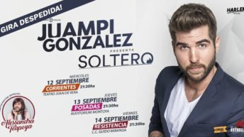 "Juampi González presenta ""Soltero"" en Resistencia"