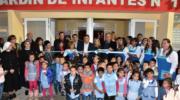 74 años de La Clotilde, con la inauguración del Jardín de Infantes, pavimento e infraestructura deportiva