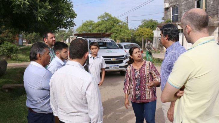 Capitanich supervisó los trabajos municipales en Villa Marín y Barrio Jardín