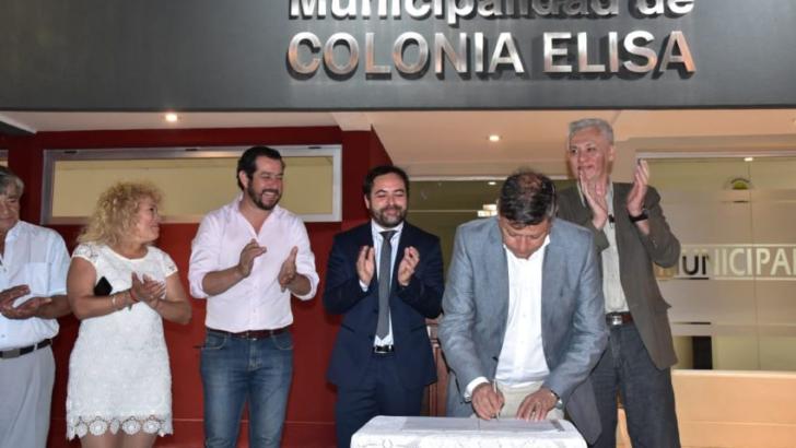 Colonia Elisa: Peppo dejó inaugurado el nuevo edificio municipal