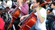 Coros y Orquestas Infantiles y Juveniles para la Equidad: 350 niños y jóvenes, en un concierto ensamblado al aire libre