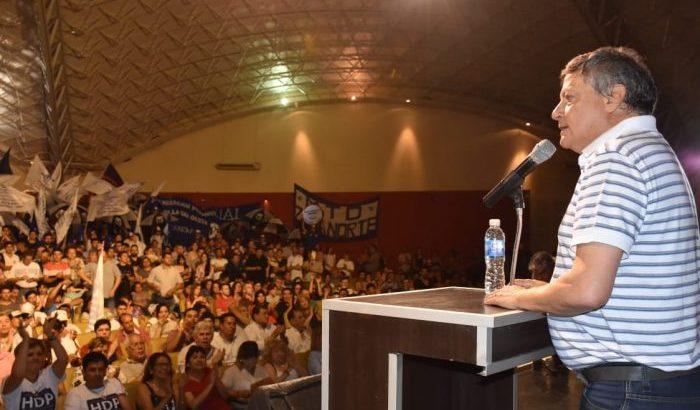 """Día de la Lealtad: """"Quiero que siga el proceso de transformación que inició Coqui"""", dijo Peppo"""