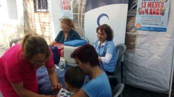 El Centro Mujer coordinó campaña de vacunación en el barrio Santa Inés