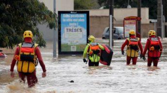 Francia: al menos once muertos por inundaciones en el sur del país