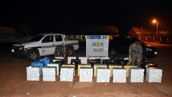 Gendarmería secuestró 116.500 atados de cigarrillos extranjeros de contrabando
