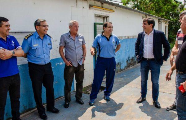 Martínez se comprometió con la Mutual Círculo de Oficiales de la Policía para poner en condiciones el predio 2