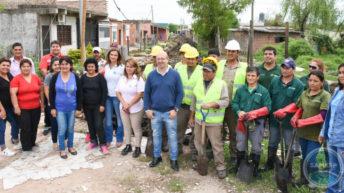 Sameep realizó conexiones domiciliarias y trabajos de desagüe en zona sur