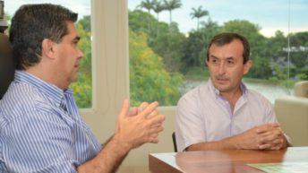 Capitanich se reunió con el candidato a intendente de Colonia Benítez por el Nepar, Sergio Phipps
