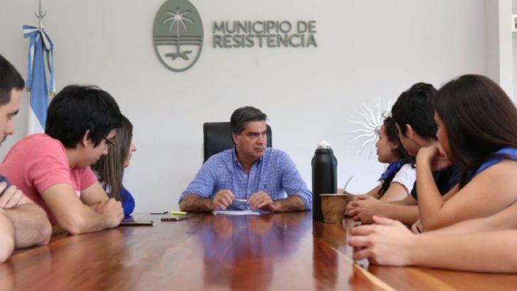 El intendente recibió al FUP, que recuperó Humanidades para el peronismo tras 25 años