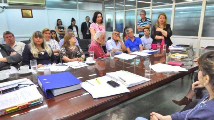 La ministra Mosqueda presentó un informe de gestión a la Comisión de Educación de la Legislatura