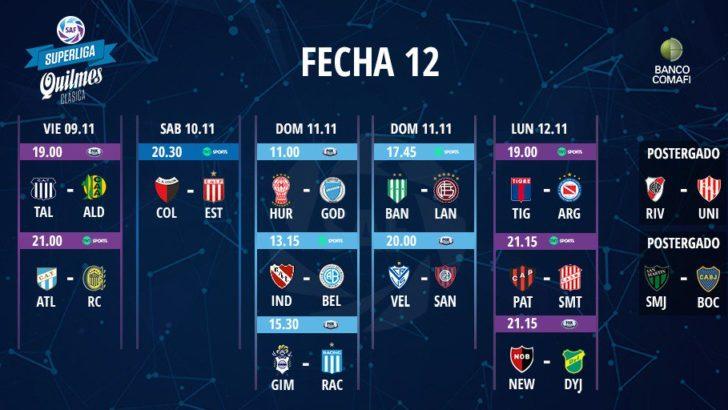 La Superliga reprogramó la fecha 12ª y postergó los partidos de Boca y de River