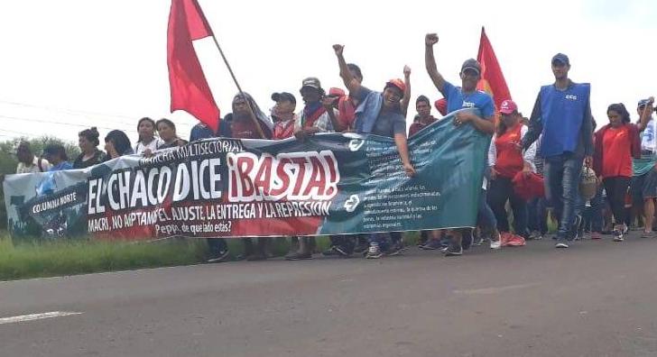 Llegó la marcha multisectorial a Resistencia y Peppo aseguró que los recibirá este viernes