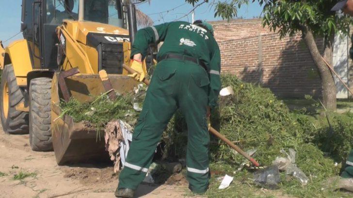 Presidencia del Concejo: el Equipo Hábitat concretó un operativo integral de limpieza en Villa Marín