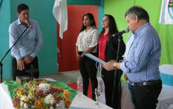 """Río Bermejito: Paredez juró y Peppo comprometió el acompañamiento para que la localidad """"vuelva a brillar"""""""