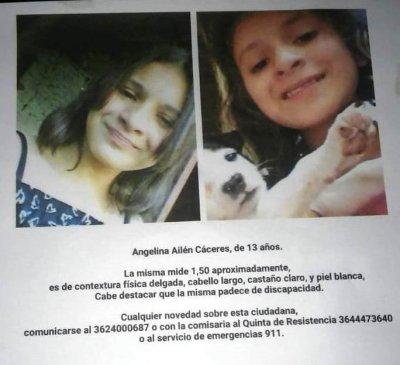 Intensa búsqueda de Ailén Angelina Cáceres