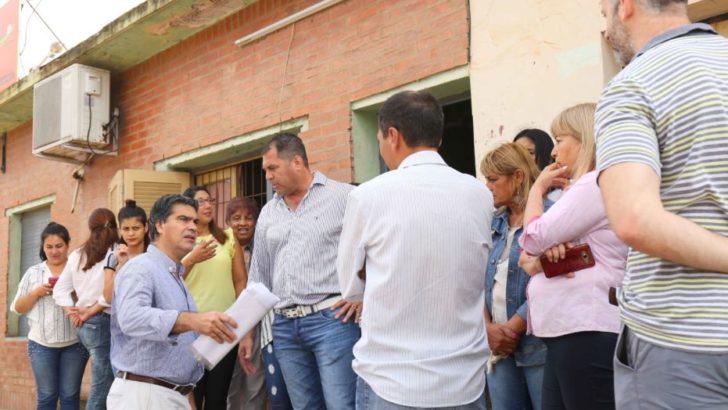 En Villa Prosperidad, Capitanich articuló mejoras para el barrio y asistencia a un comedor