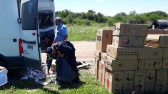 Frustraron el contrabando de 60 mil paquetes de cigarrillos ilegales