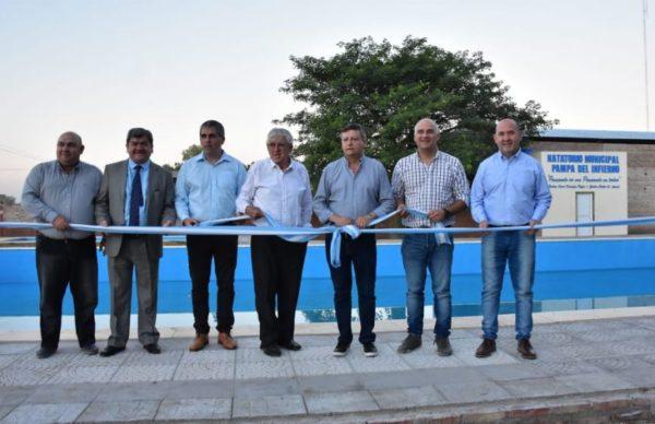 Pampa del Infierno: Peppo inauguró obras en el marco del aniversario 1