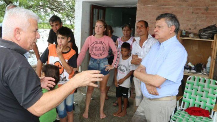 El gobernador supervisó los trabajos y asistencia a municipios inundados