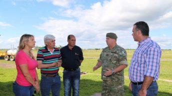Emergencia hídrica: coordinan trabajos con intendentes y el Ejército