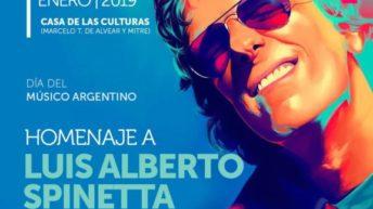 Este jueves, segunda función del homenaje Luis Alberto Spinetta