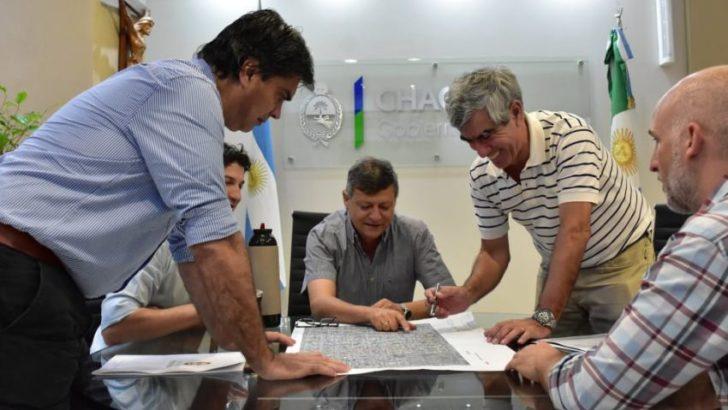 Firmaron un convenio para 18 cuadras de pavimento para Resistencia